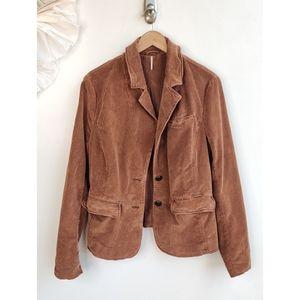 Free People Brown Corduroy Jacket / Blazer